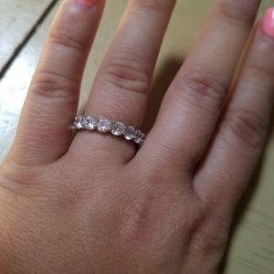 18k Swarovski Round Eternity Ring